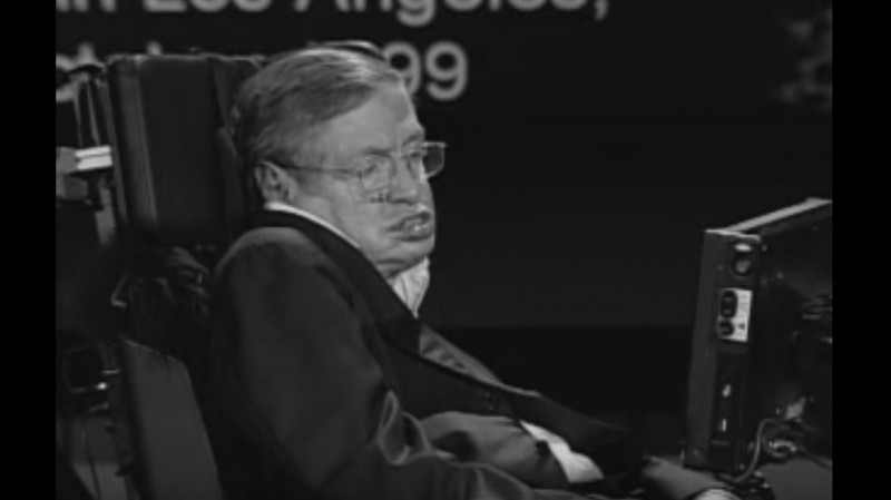 Stephen Hawking. Źródło: NASA/www.youtube.com